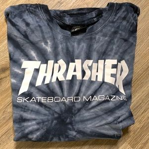 Thrasher Skateboard Magazine tye dye t-shirt sz- L